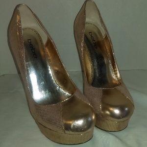 Bebe Gold Heels